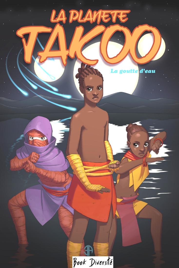 La planéte Takoo – Manga – Livre pour enfant – Book Diversité – personnage noir Noel en wax Toulouse